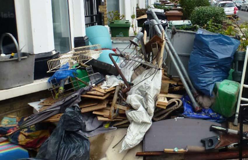 junk removal burbank patio image