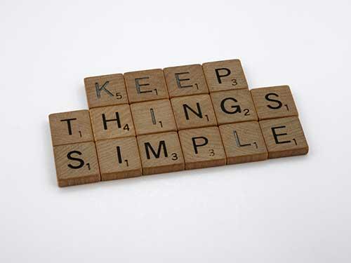 Keep it simple ju nk removal phrase