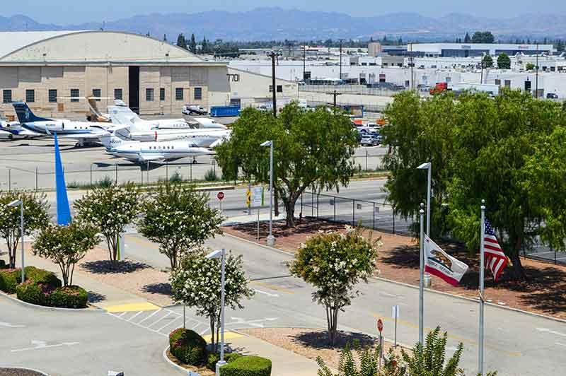 View of airport Van Nuys, CA